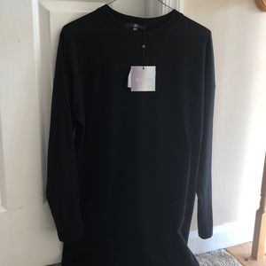 Mini Missguided Black long sleeve t-shirt dress